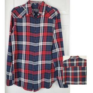 Pull and bear Plaid longsleeve Button down shirt